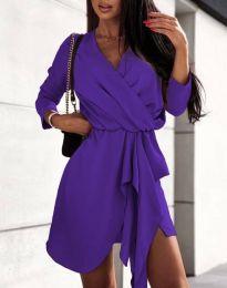Obleka - koda 2879 - temno vijolična