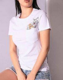 Majica - koda 2447 - 3 - bela