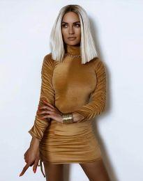 Obleka - koda 4920 - кapučino
