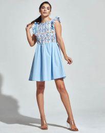 Obleka - koda 1482 - 4 - svetlo modra