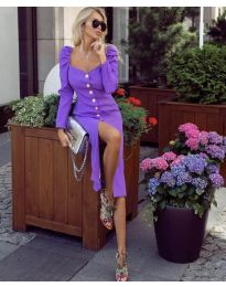 Obleka - koda 4418 - vijolična