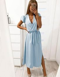 Obleka - koda 2455 - 1 - svetlo modra