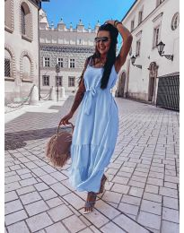 Obleka - koda 1230 - svetlo modra
