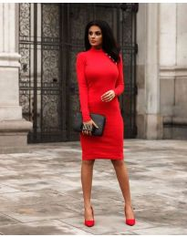 Obleka - koda 7099 - 2 - rdeča