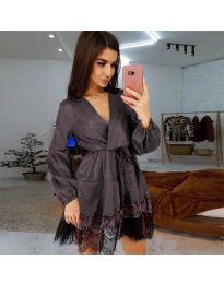 Obleka - koda 3738 - temno siva