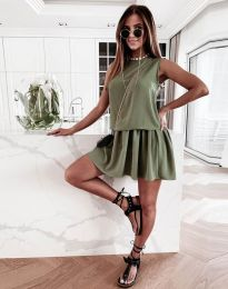 Obleka - koda 6612 - 2 - olivno zelena