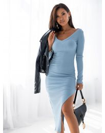Obleka - koda 12070 - svetlo modra