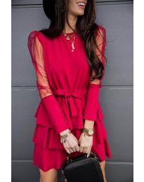 Obleka - koda 8384 - bordo