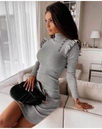 Obleka - koda 8484 - siva