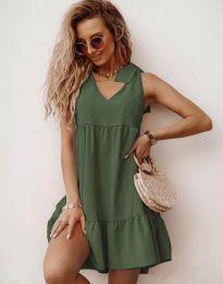 Obleka - koda 7206 - olivno zelena