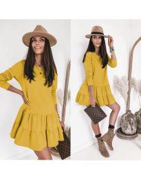 Obleka - koda 8486 - rumena