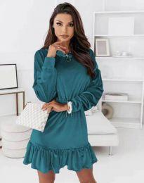 Obleka - koda 0424 - turkizna