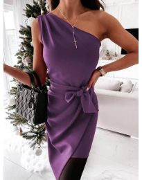 Obleka - koda 6442 - 4 - vijolična