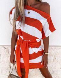 Obleka - koda 4633 - oranžna