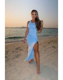 Obleka - koda 11966 - svetlo modra