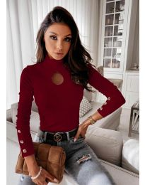Bluza - koda 9917 - 2 - bordo