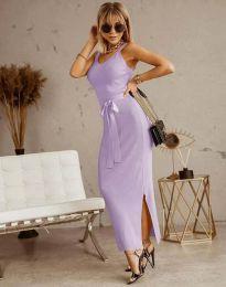 Obleka - koda 6166 -  svetlo vijolična