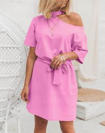 Obleka - koda 5848 - 4 - roza
