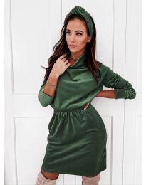Obleka - koda 1714 - тъмно зелен