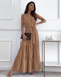 Obleka - koda 2578 - кapučino