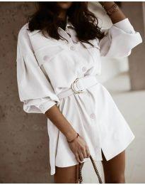 Obleka - koda 6461 - bela