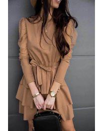 Obleka - koda 8384 - кapučino