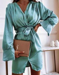 Obleka - koda 2741 - turkizna