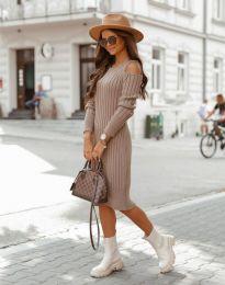 Obleka - koda 8203 - кapučino
