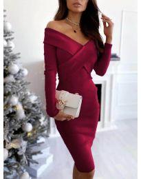Obleka - koda 6130 - bordo