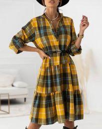 Obleka - koda 6842 - gorčica
