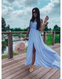 Obleka - koda 1174 - svetlo modra