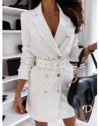 Obleka - koda 5888 - 2 - bela