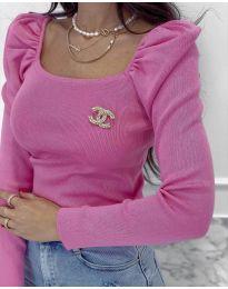 Bluza - koda 2180 - 2 - roza