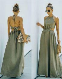 Obleka - koda 6121 - olivno zelena